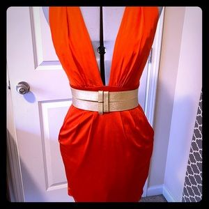 Burnt orange BeBe Dress